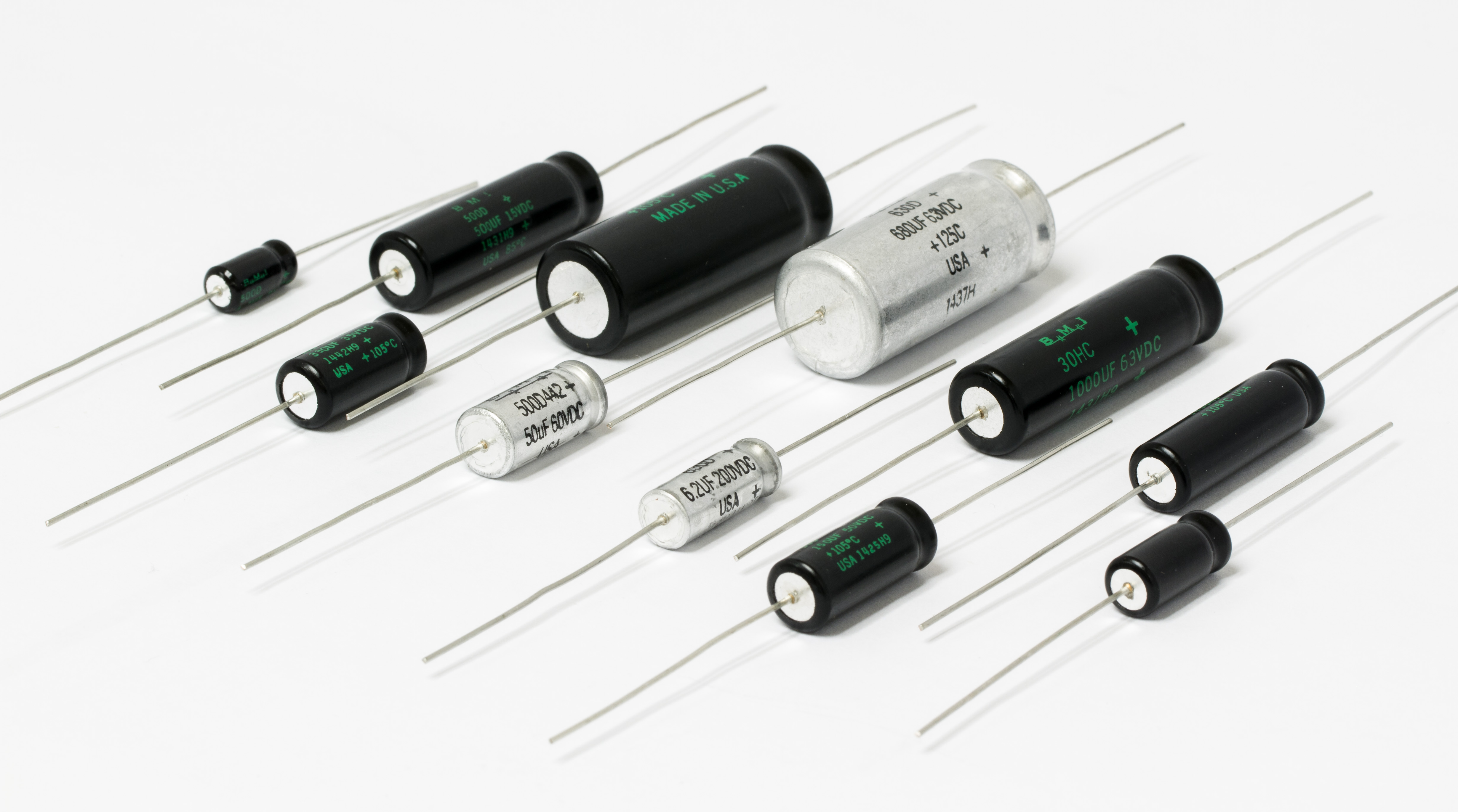 Mini Axial Capacitors