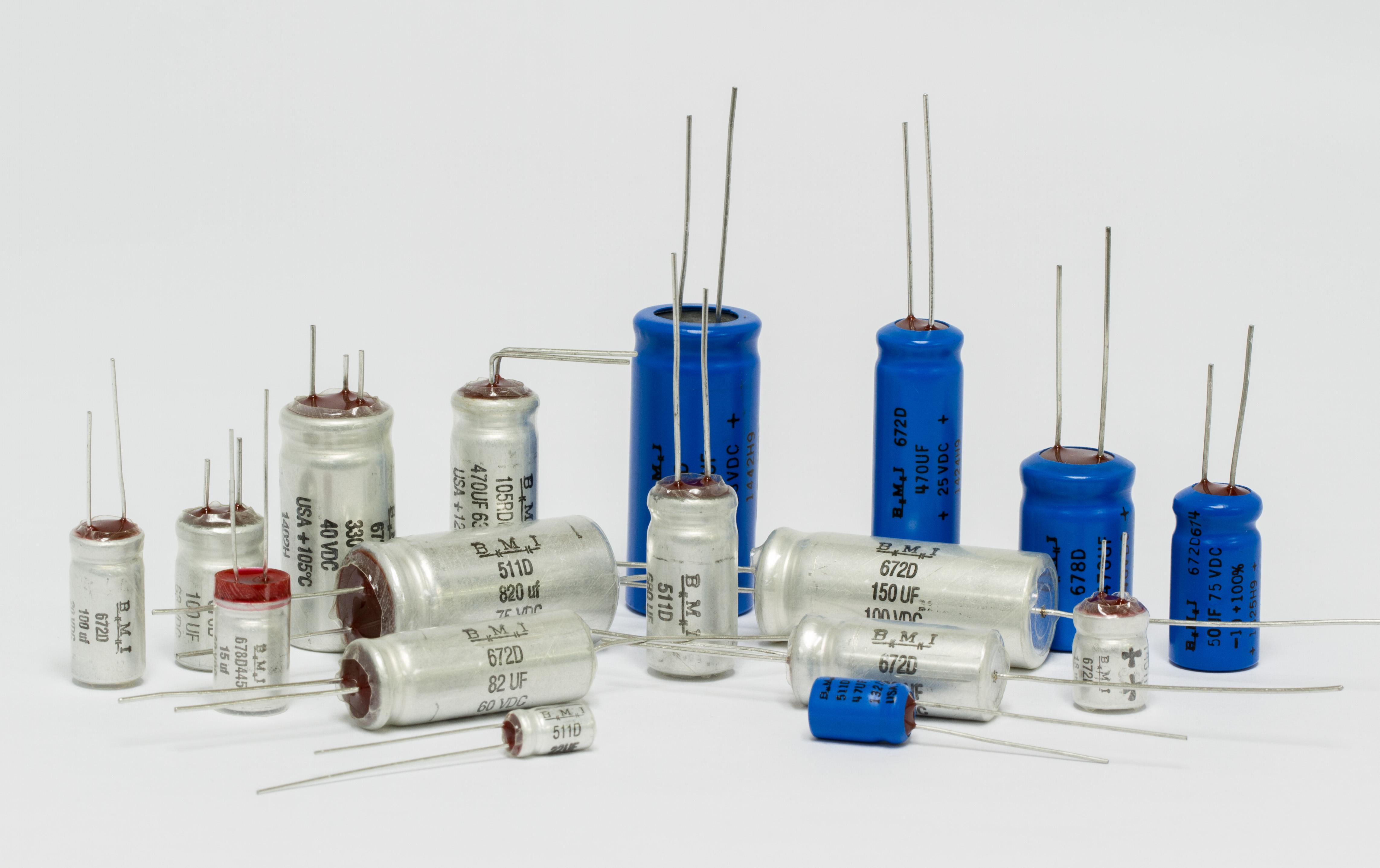 Barker Microfarads Capacitor Manufacturer Dc Capacitors In Circuits Mini Radial